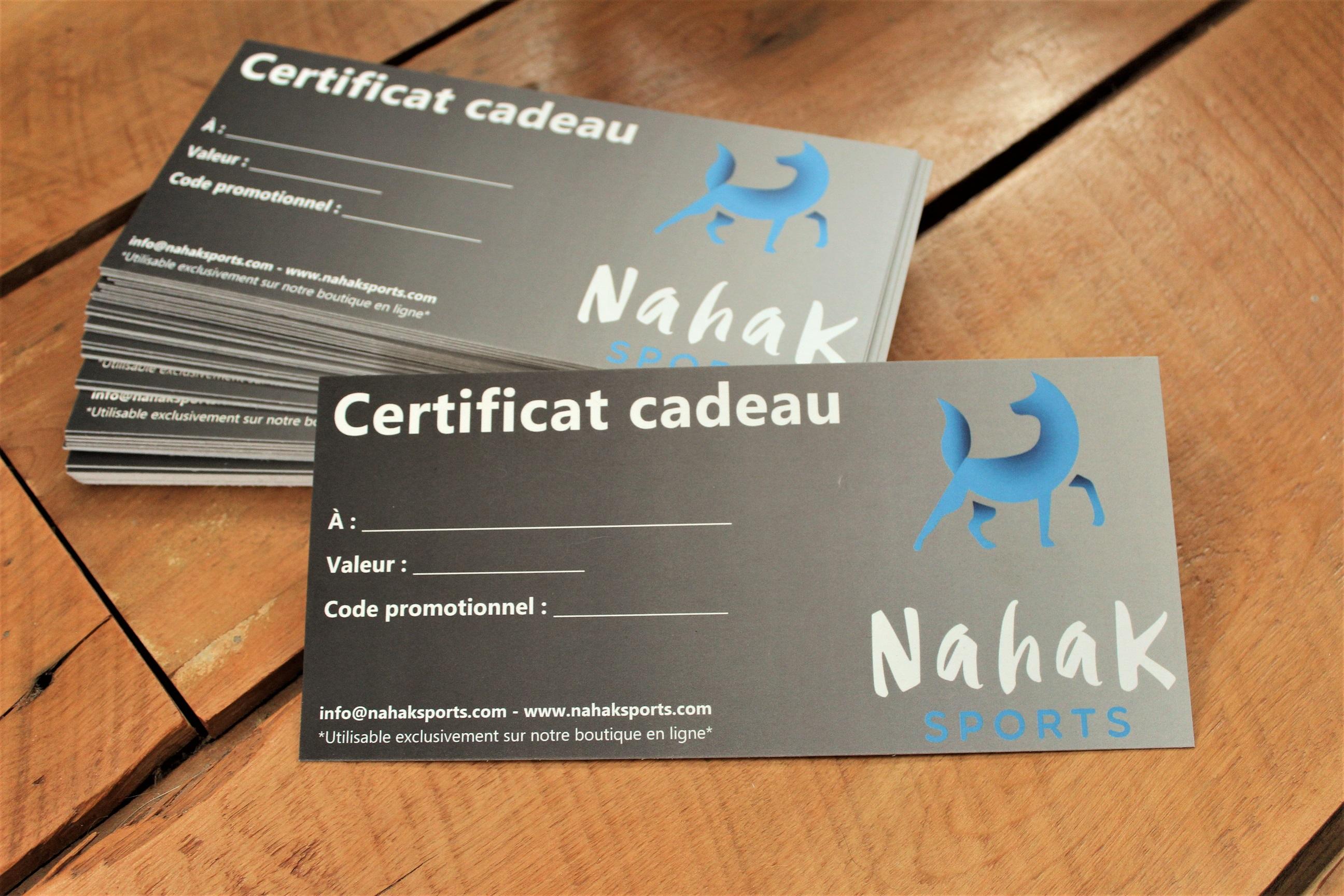 Certificat cadeau Nahak Sports
